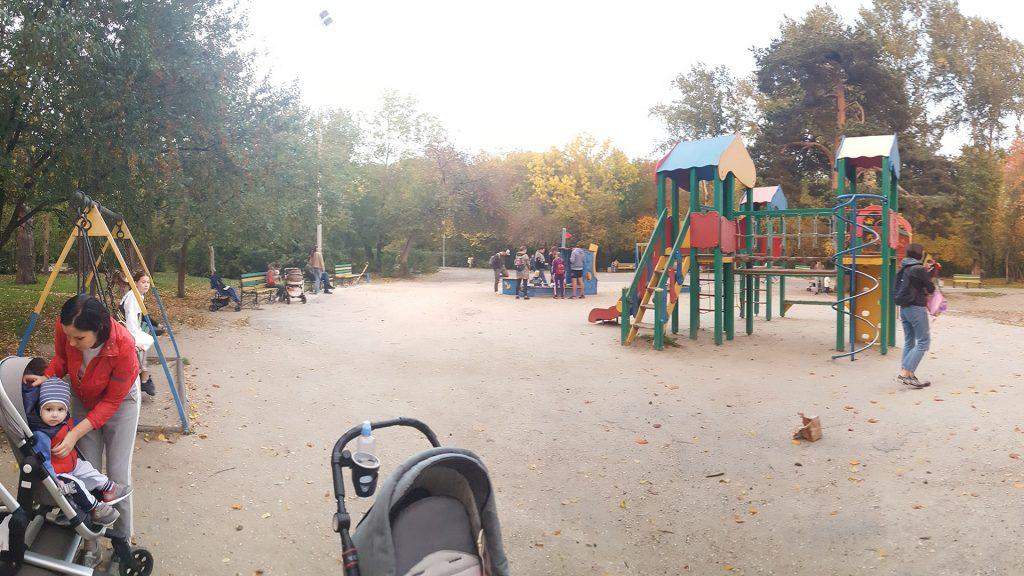Существующая детская площадка в северной части Зеленой Рощи