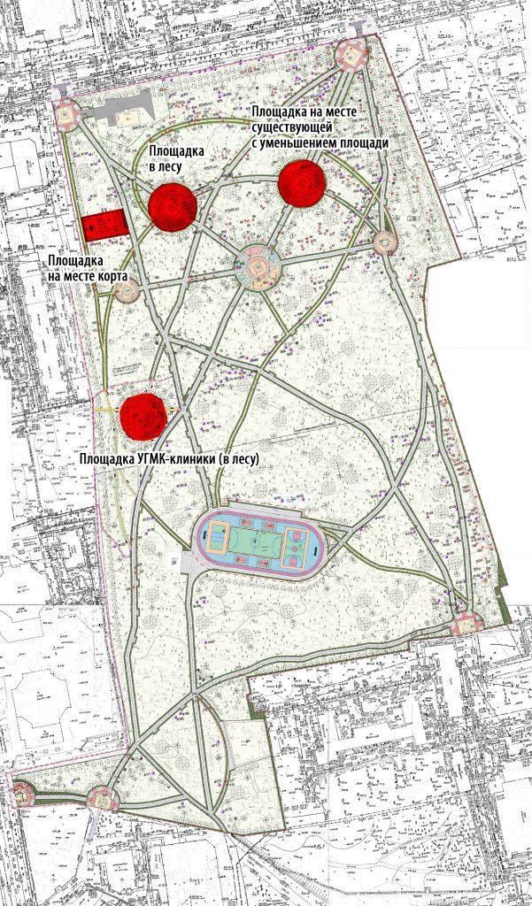 Планируемые детские площадки в Зеленой Роще.
