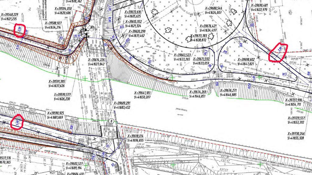 В проекте открытой недавно набережной присутствуют и узкие, и широкие дорожки, ширина которых не кратна 0,75м
