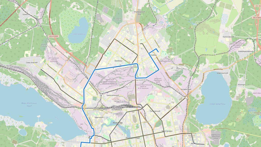 Продление маршрута №19 до Эльмаша.