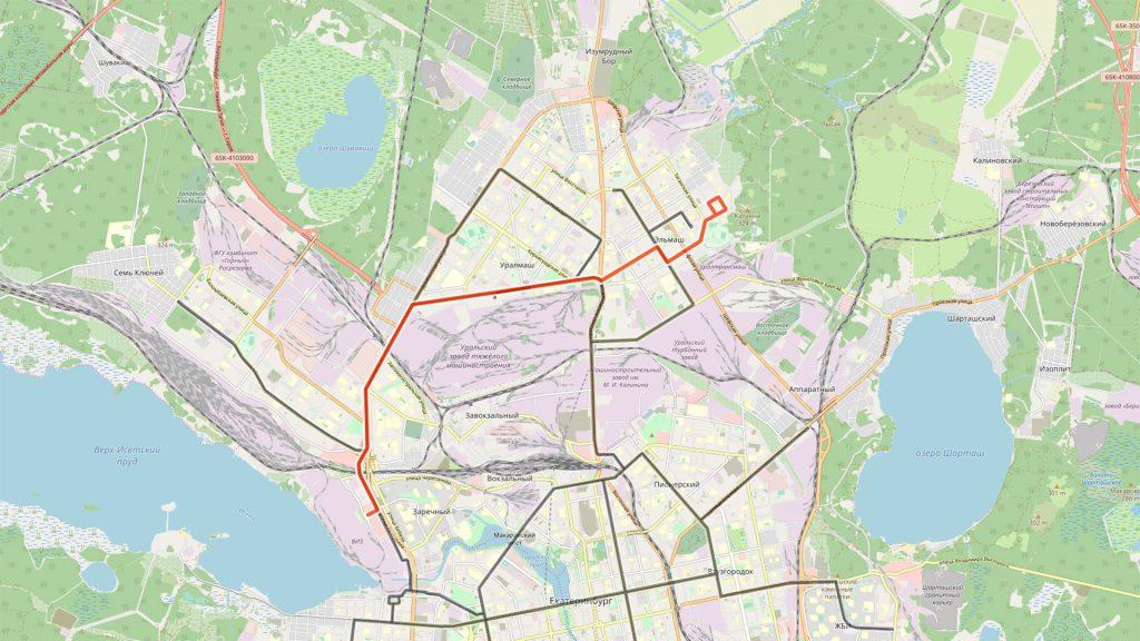 Автобусный маршрут в новой маршрутной сети, решающий вопрос связи по улицам Баумана и Машиностроителей.