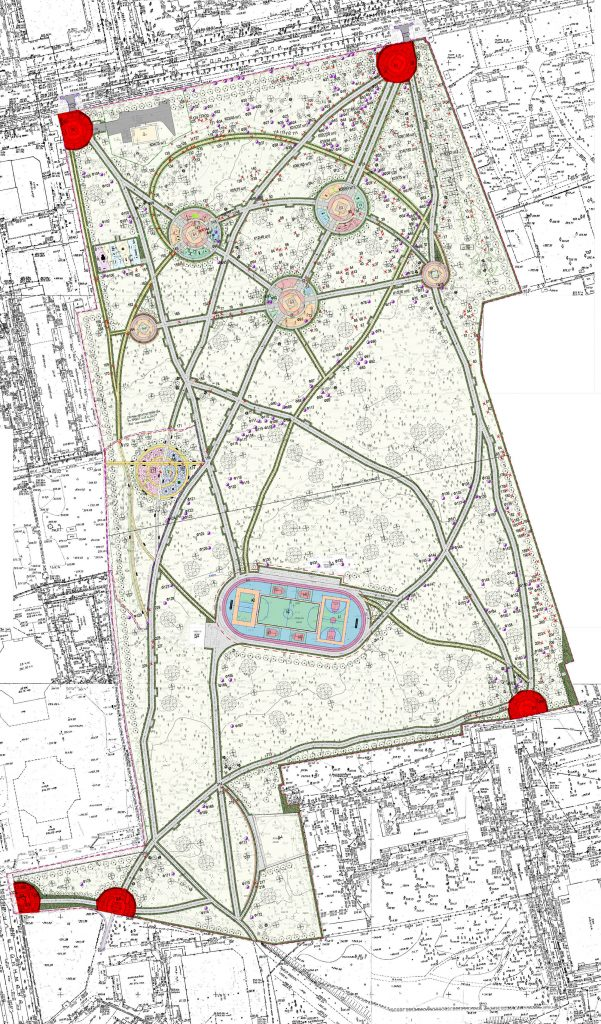 Входные площадки в проекте благоустройства Зеленой Рощи