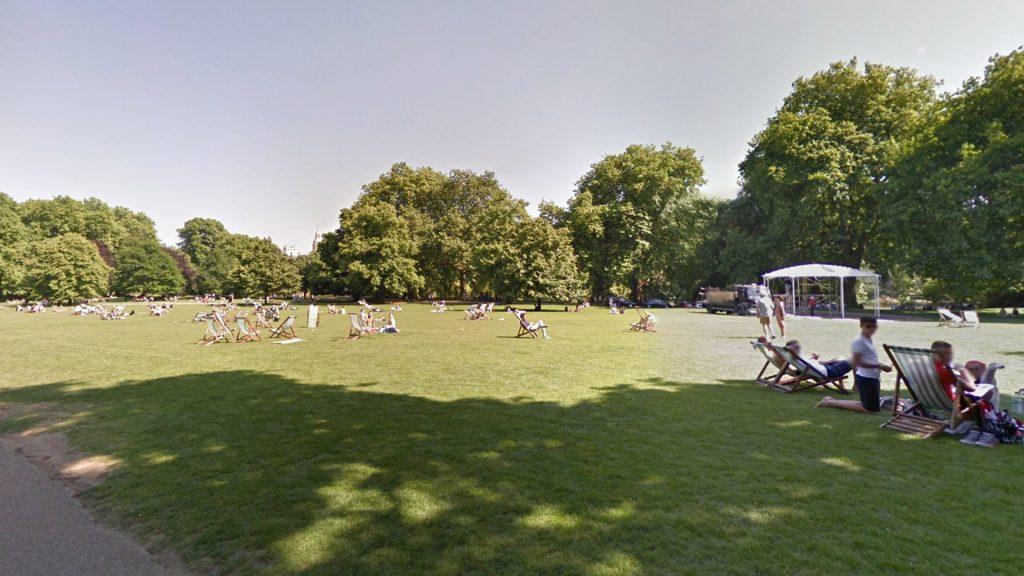 Газон в парке Сент-Джеймс в Лондоне