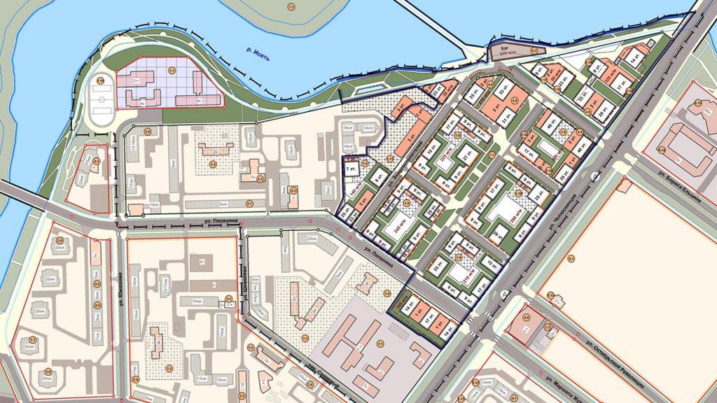 Проект планировки района к северу от улицы Челюскинцев