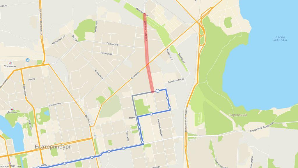 """Перенос троллейбусной конечной на """"Авангард"""" позволит продлить маршруты, идущие через Втузгородок со стороны Малышева."""