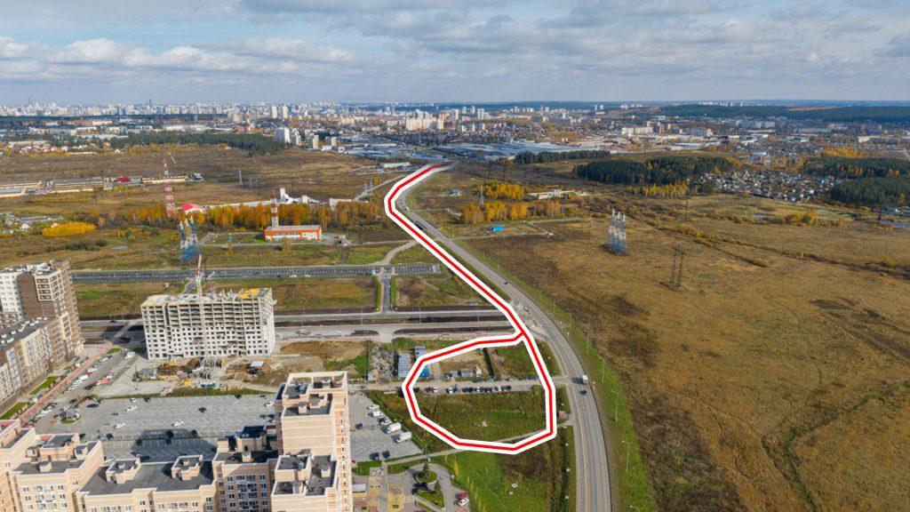 На первом этапе конечная трамвая будет на северо-восточном углу района. Фото: sunny-ekb.ru