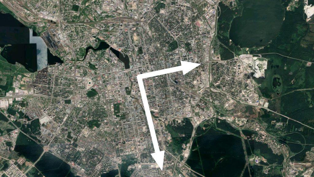 Сегодня передвижения на общественном транспорте и южной частью города на общественном транспорте возможны только по Г-образному маршруту через центр.