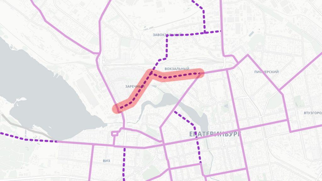 Трамвайная линия по улицам Готвальда и Героев России от Халтурина до Челюскинцев