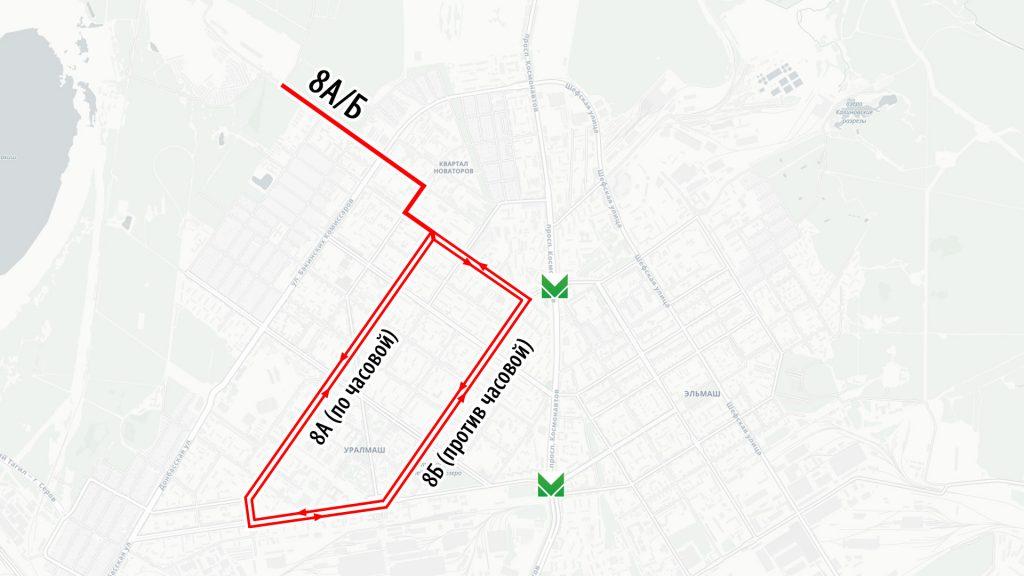 Двусторонний кольцевой троллейбусный маршрут на Уралмаше