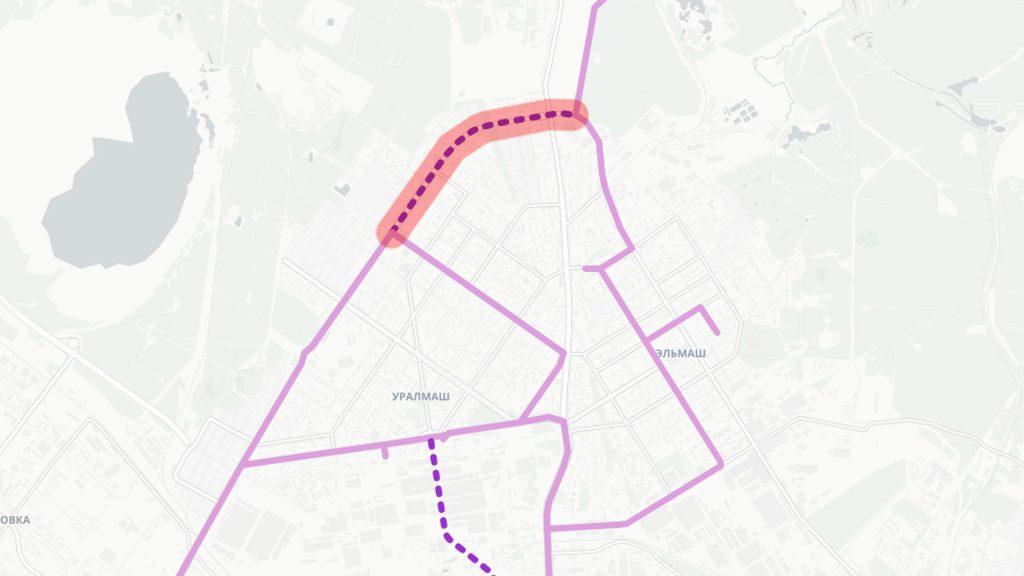 Трамвайная линия по улице Бакинских комиссаров от Победы до Шефской
