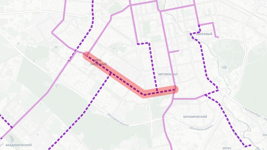 Трамвайная линия по улицам Волгоградской и Островского от Белореченской до 8 Марта