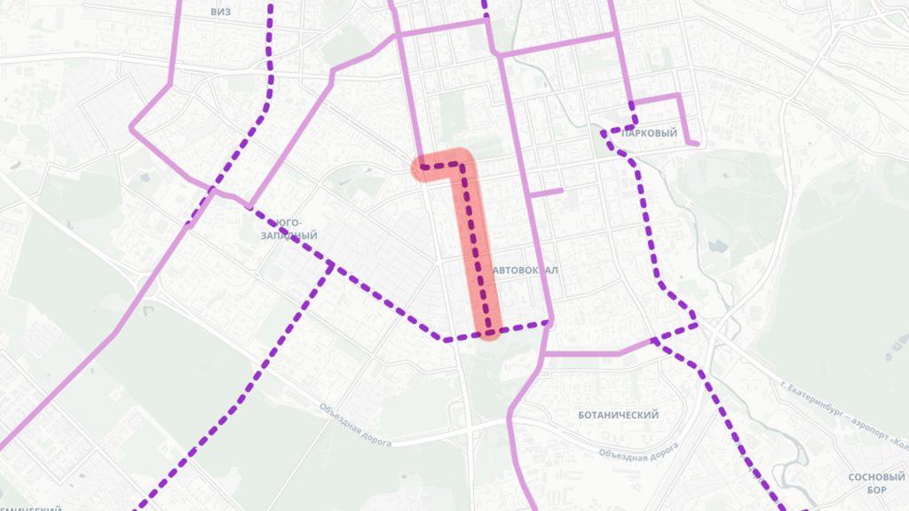 Трамвайная линия по улицам Серова и Большакова от Московской до Островского
