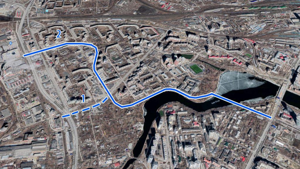 Трамвайная линия сможет значительно улучшить транспортную доступность Заречного микрорайона.