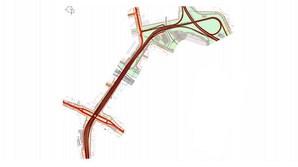 """Проект развязки у """"Калины"""" сейчас выполнен без учета развития общественного транспорта."""