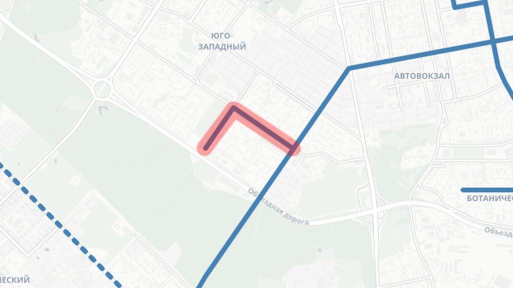 Ответвление на Бардина и Чкалова от основной линии по Амундсена