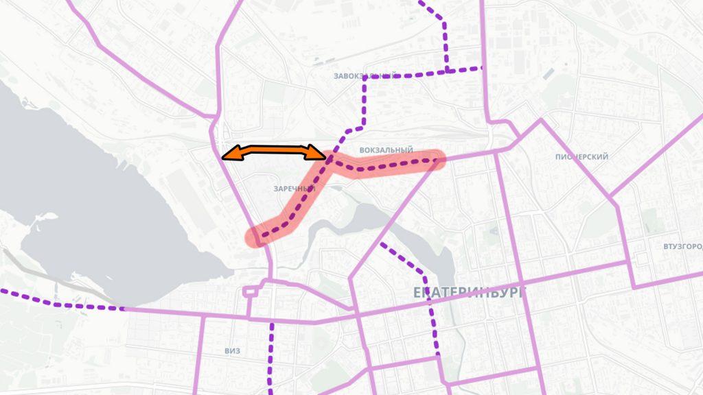 Планировавшееся ранее соединение трамвайных линий через улицу Черепанова осложняется развязкой у Таганского ряда, не учитывающей эту трамвайную линию.