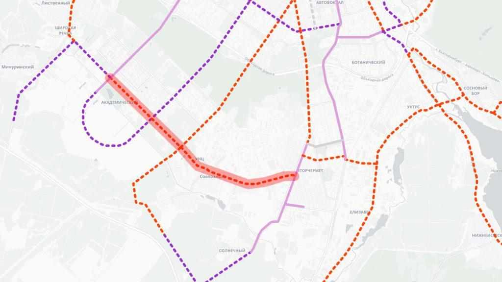 Трамвайная линия по Сахарова, Предельной и Умельцев