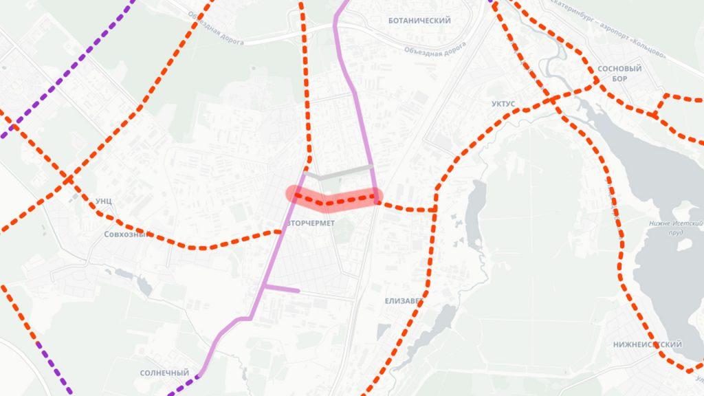 Трамвайная линия по Санаторной с ликвидацией линии по Ферганской