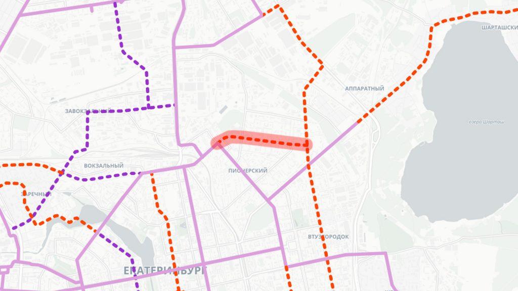 Апгрейд трамвайно-автобусного движения по Сулимова до трамвайной линии