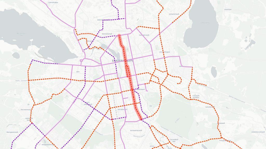 Апгрейд троллейбусно-автобусного движения по Свердлова, Карла Либкнехта и Белинского до трамвайной линии