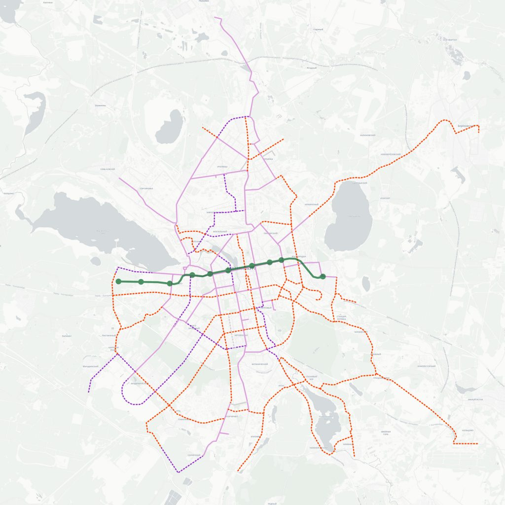 Предлагаемые новые трамвайные линии и вторая линия метро