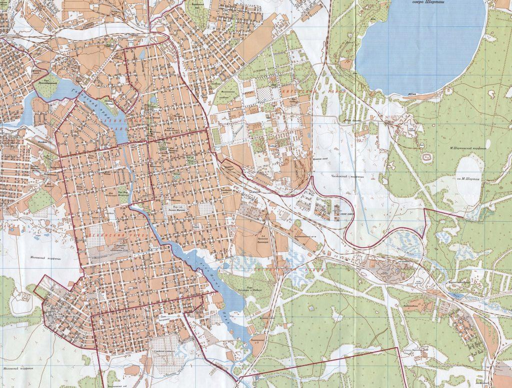 Свердловск в 1947-м году. Карта: 1723.ру